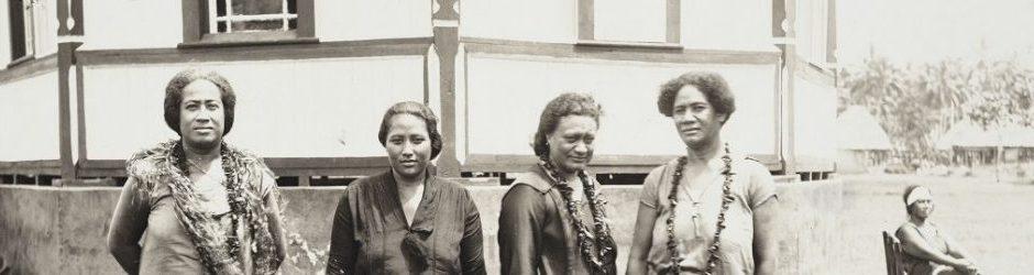 Οι γυναίκες αρχηγοί του κινήματος Μάου (Δυτική Σαμόα, 1930)