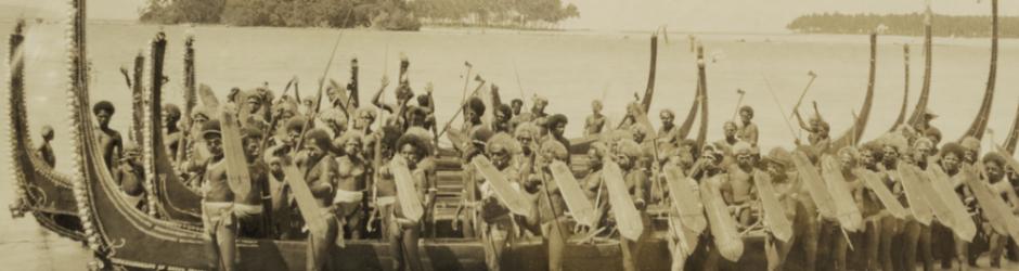 Πολεμιστές στα κανό τους (Νησιά Σολομώντος, 1922)
